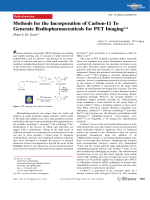 Methods for the Incorporation of Carbon-11 To Generate Radiopharmaceuticals for PET Imaging.