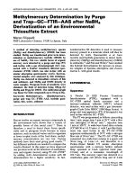 Methylmercury determination by Purge and TrapЦGCЦFTIRЦAAS after NaBH4 derivatization of an environmental thiosulfate extract.