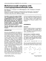 Methylmercury(II) complexes with 2-mercaptopyridinecarboxylic acids.