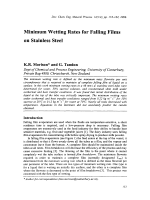 Minimum Wetting Rates for Falling Films on Stainless Steel.
