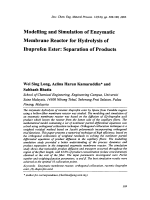 Modelling and Simulation of Enzymatic Membrane Reactor for Hydrolysis of Ibuprofen Ester  Separation of Products.