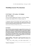 Modelling Gaseous NOx Reactions.