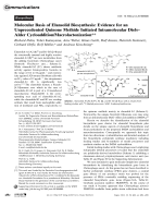 Molecular Basis of Elansolid Biosynthesis  Evidence for an Unprecedented Quinone Methide Initiated Intramolecular DielsЦAlder CycloadditionMacrolactonization.
