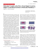 Molecular Crystals on the Move  From Single-Crystal-to-Single-Crystal Photoreactions to Molecular Machinery.