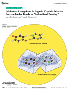 Molecular Recognition in Organic Crystals  Directed Intermolecular Bonds or Nonlocalized Bonding.