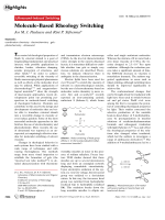 Molecule-Based Rheology Switching.
