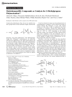 Molybdenum(III) Compounds as Catalysts for 2-Methylpropene Polymerization.