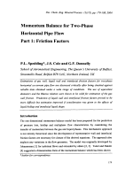 Momentum Balance for Two-Phase Horizontal Pipe Flow Part 1  Friction Factors.
