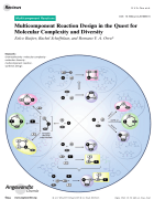 Multicomponent Reaction Design in the Quest for Molecular Complexity and Diversity.