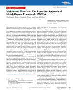 Multiferroic Materials  The Attractive Approach of MetalЦOrganic Frameworks (MOFs).