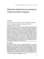 Multivariate Statistical Process Monitoring Using Kernel Density Estimation.