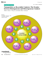 Nanoparticles as Recyclable Catalysts  The Frontier between Homogeneous and Heterogeneous Catalysis.
