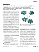 Nanoscale Growth of Molecular Oxides  Assembly of a {V6} Double Cubane Between Two Lacunary {P2W15} Polyoxometalates.