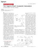 New Aspects of Soai's Asymmetric Autocatalysis.