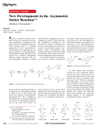 New Developments in the Asymmetric Stetter Reaction.