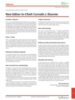 New Editor-in-Chief  Cornelis J. Elsevier