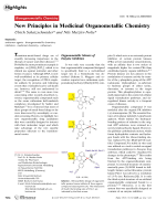New Principles in Medicinal Organometallic Chemistry.