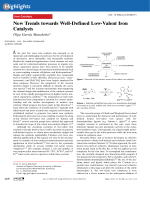 New Trends towards Well-Defined Low-Valent Iron Catalysts.
