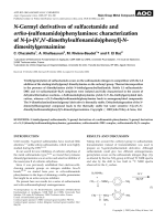 N-Germyl derivatives of sulfacetamide and ortho-(sulfonamido)phenylamines  characterization of N-[o-(N N-dimethylsulfonamido)phenyl]-N-dimesitylgermaimine.