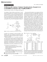 N-Heterocyclic Carbene Catalysis  Enantioselective Formal [2+2] Cycloaddition of Ketenes and N-Sulfinylanilines.