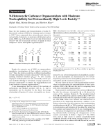 N-Heterocyclic Carbenes  Organocatalysts with Moderate Nucleophilicity but Extraordinarily High Lewis Basicity.