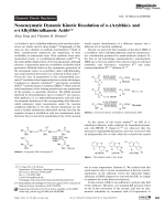 Nonenzymatic Dynamic Kinetic Resolution of -(Arylthio)- and -(Alkylthio)alkanoic Acids.