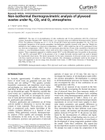 Non-isothermal thermogravimetric analysis of plywood wastes under N2  CO2 and O2 atmospheres.