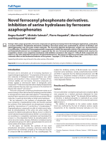 Novel ferrocenyl phosphonate derivatives. Inhibition of serine hydrolases by ferrocene azaphosphonates