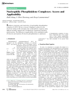 Nucleophilic Phosphinidene Complexes  Access and Applicability.