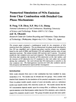 Numerical Simulation of NOx Emission from Char Combustion with Detailed Gas Phase Mechanisms.