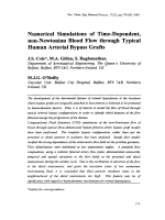 Numerical Simulations of Time-Dependent  non-Newtonian Blood Flow through Typical Human Arterial Bypass Grafts.