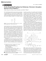 On the BenzyliumTropylium Ion Dichotomy  Electronic Absorption Spectra in Neon Matrices.