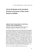 On the Mechanism of the Interfacial Reaction in Extraction of Rare Earth Metals by D2EHPA.