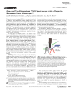 One- and Two-Dimensional NMR Spectroscopy with a Magnetic-Resonance Force Microscope.