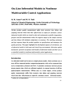 On-Line Inferential Models in Nonlinear Multivariate Control Applications.
