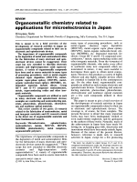 Organometallic chemistry related to applications for microelectronics in Japan.
