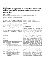Organotin compounds in agriculture since 1980. Part I