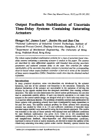 Output Feedback Stabilization of Uncertain Time-Delay Systems Containing Saturating Actuators.
