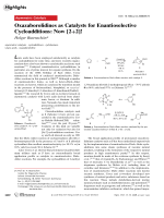 Oxazaborolidines as Catalysts for Enantioselective Cycloadditions  Now [2+2]!.