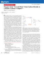 Oxygen Atom УCut and PasteФ from Carbon Dioxide to a Fischer Carbene Complex.
