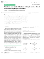 Palladium and GoldЦPalladium Catalysts for the Direct Synthesis of Hydrogen Peroxide.