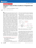 Palladium-Catalyzed Direct Synthesis of Organoboronic Acids.