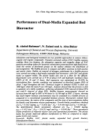 Performance of Dual-Media Expanded Bed Bioreactor.