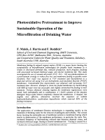 Photooxidative Pretreatment to Improve Sustainable Operation of the Microfiltration of Drinking Water.