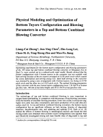 Physical Modeling and Optimization of Bottom Tuyere Configuration and Blowing Parameters in a Top and Bottom Combined Blowing Converter.
