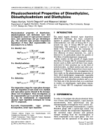 Physicochemical properties of dimethylzinc  dimethylcadmium and diethylzinc.