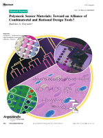 Polymeric Sensor Materials  Toward an Alliance of Combinatorial and Rational Design Tools.