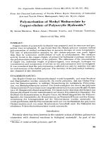 Polymerization of methyl methacrylate by copper-chelate of polyacrylic hydrazide.