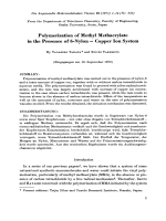 Polymerization of methyl methacrylate in the presence of 6-nylon Ц copper ion system.