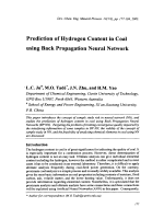 Prediction of Hydrogen Content in Coal using Back Propagation Neural Network.